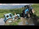Трактор Беларус или Трактор Т40 в болоте воде Тюнинг Что Лучше
