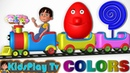 Learn Colors with Toy Trains - Eggs And Lollipops - Children Toddlers And Kids - Kids Play Tv