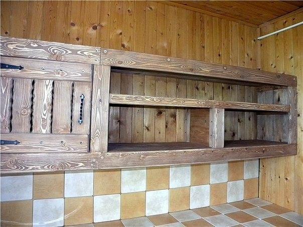 Кухни из дерева своими руками для дачи