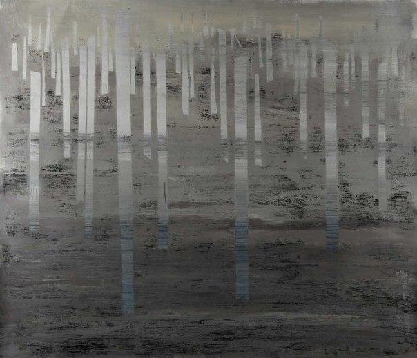 Альбіна Ялоза, із серії ВТРАЧЕНИЙ РАЙ, 2012, полотно, акрил, ліногравюра, 95х110