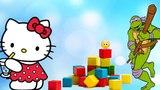 Цвета на Английском языке для детей с Маршмэллоу Ниндзя и Хэлло Китти Video For Kids Melissa Tv
