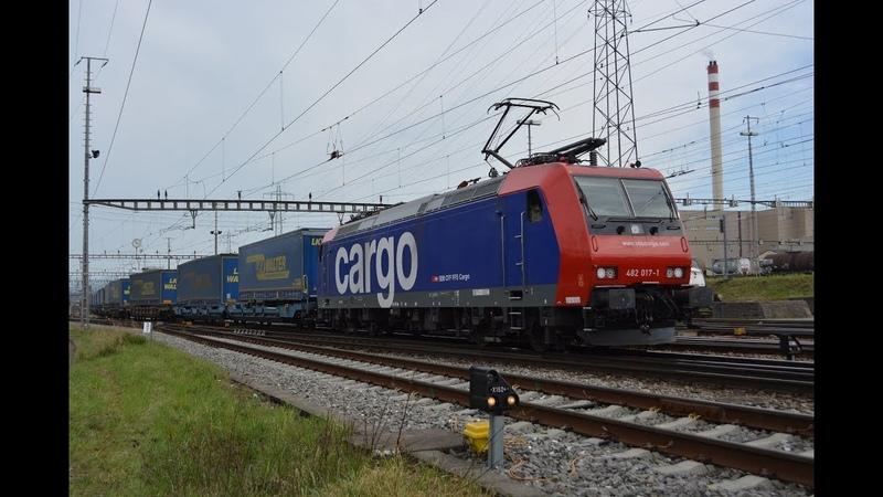 Bahnverkehr im RB Basel am 06.04.19 – SBB, DB, Crossrail, Railtraxx