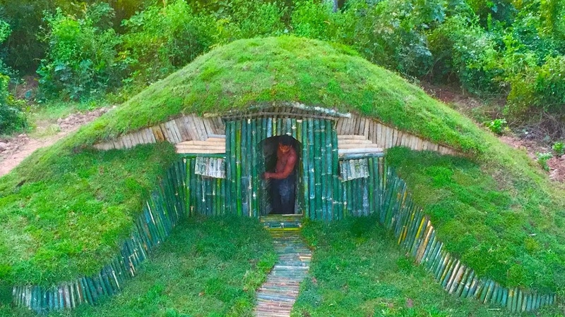 Unbelievable A Small Hill become Beautiful Underground House Build by a Men Hobbit House Full
