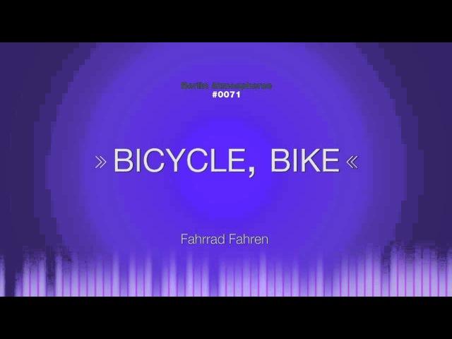 SOUND EFFECT Bicycle Bike Soundeffekt Fahrrad fahren Pedaling freewheel spinning
