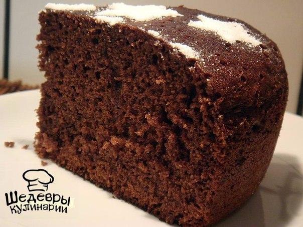 Шоколадный бисквит шоколаде рецепт фото