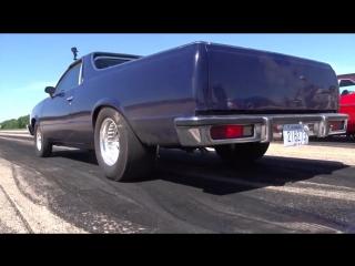 Nitrous assisted El Camino vs Cherry Bomb Nova in Kansas equalizer small tire sh