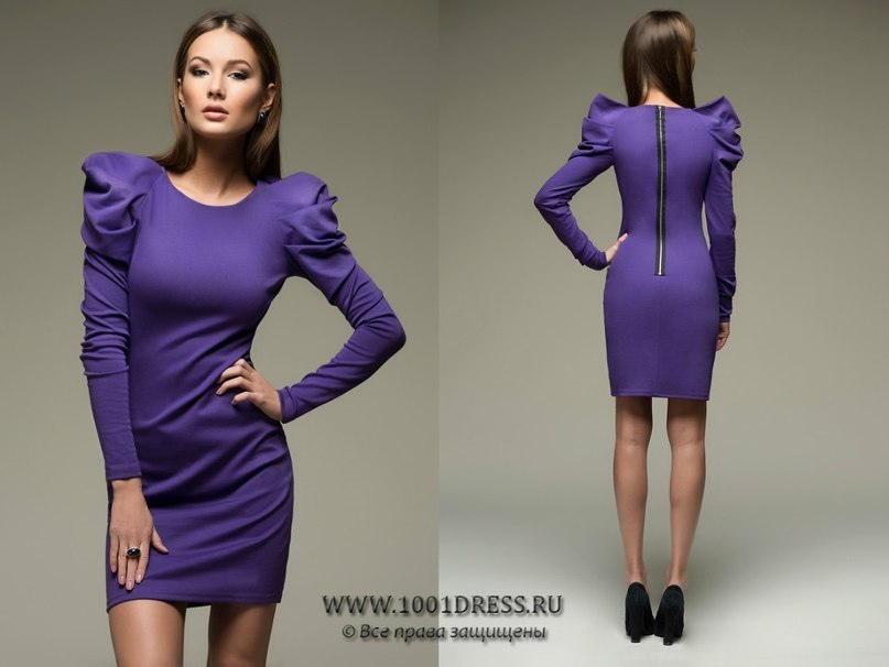 Платье фиолетовое с драпировкой на.
