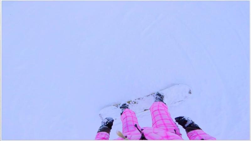 Miss Mants first snowboardingKaprungAustria