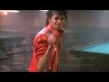 Michael Jackson - Beat It - Удирай  HD  КЛИП    ТИТРЫ ПЕРЕВОД