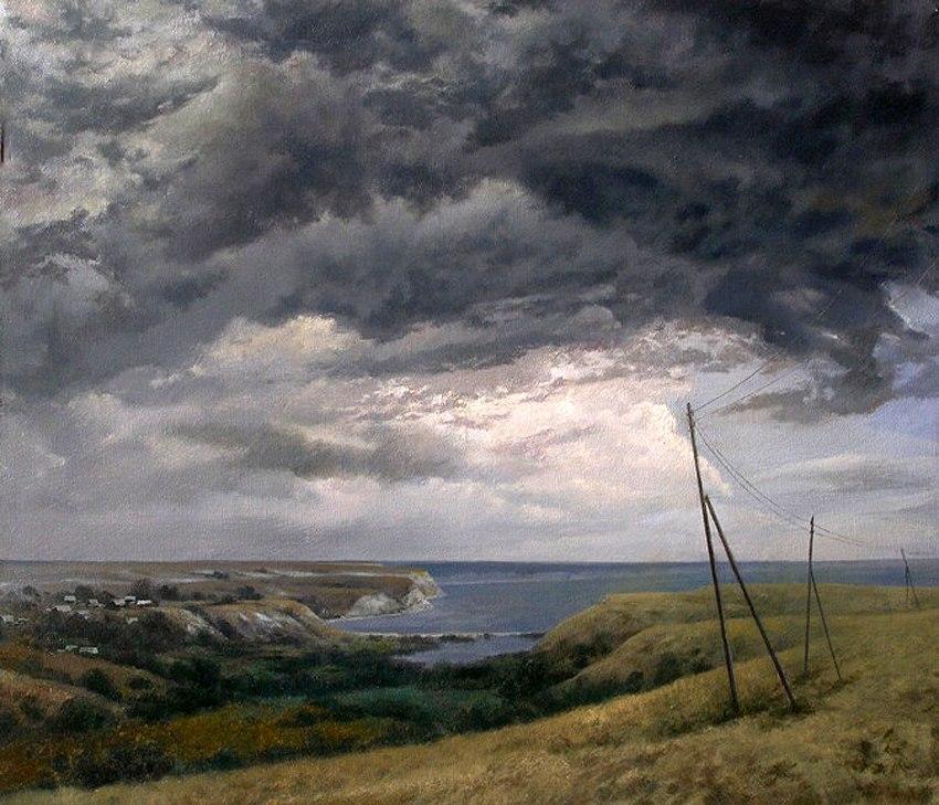 Картина А.П. Солдатенко «Вид на село Нижняя Банновка»