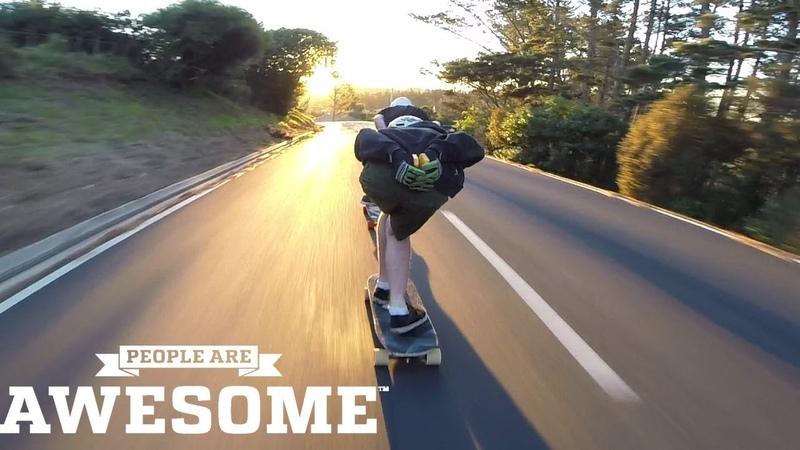 Epic Downhill Longboarding On Highest Speed - Best Of Crunchie