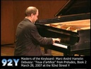 Marc André Hamelin performs Debussy Feux d'artifice from Preludes Book 2