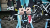 Vincenzo Nibali prepares for the time trial