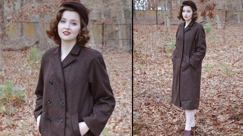 Sounds of Sewing 1950s Brown Coat ASMR-ish