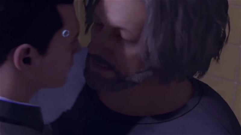 [Detroit: Become Human] | Connor kiss Hank