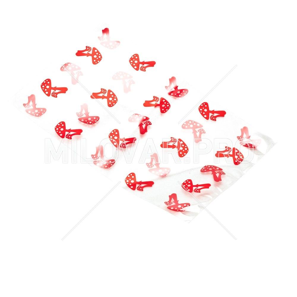 Пакет Грибочки красные, большой, 50*35 см.