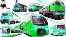 Железнодорожный транспорт 5 Частей подряд развивающие мультики для маленьких детей и малышей