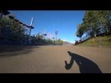 Ермакова Василиса. Downhill skateboarding. Toside slide. Coleman slide. Pendulum slide..mp4