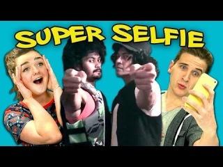 TEENS REACT TO SUPER SELFIE (ft. Maisie Williams)