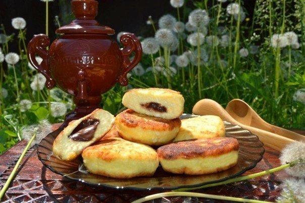 Сырники с шоколадом на завтрак!