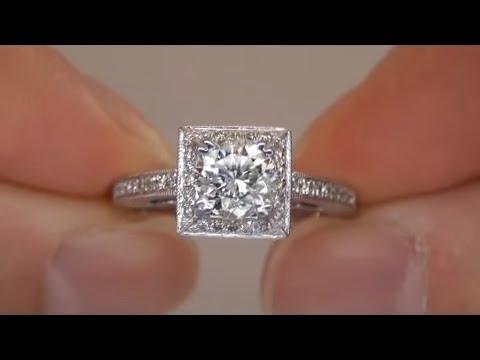Wedding Ring 1.28 Carat Diamond Engagement Ring Up For Auction eBay