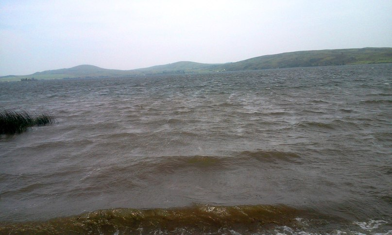 Озеро Белое в непогоду
