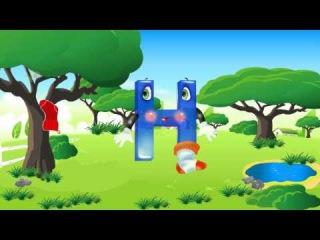 Развивающий мультфильм Алфавит для малышей Азбука в мультфильмах Буквы МНОП