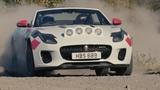 Jaguar F-Type Convertible rally car video debut