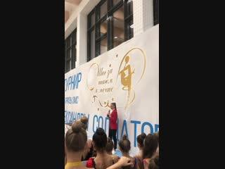 Выступление А.Солдатовой перед гостями и участниками турнира