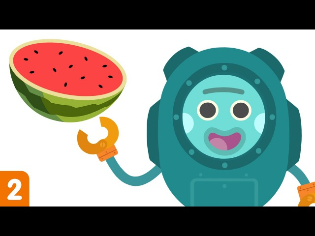 The Bumble Nums Make Underwater Watermelon Salad | Cartoons for Kids