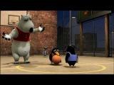 Мультфильм. Медведь Бернард играет в баскетбол
