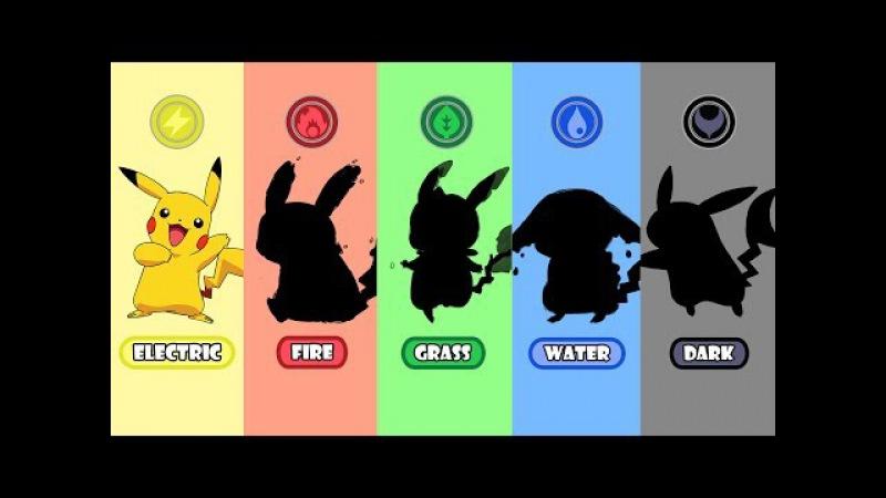 Requests 2 - Pokemon Type Swap: Pikachu Fire, Water, Grass And Dark.