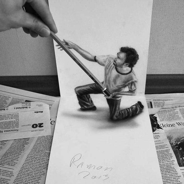 Великолепные 3D рисунки Ramon Bruin 3lNn7I3EsZw