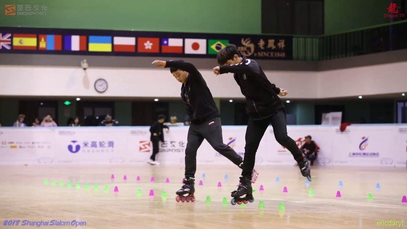 2018 SSO 上海轮滑公开赛 Pair Slalom,3rd Place,Panthep Rujirek,Chettanant Khanjamnong,Tailand