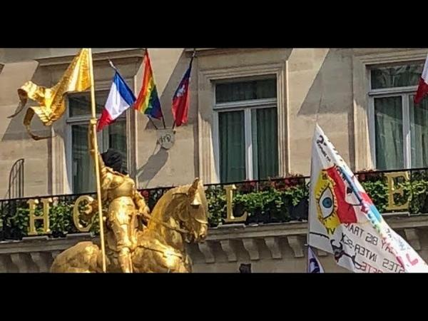 Gay Pride Des militants interpellés pour avoir cagoulé la statue de Jeanne d'Arc la marche bloquée