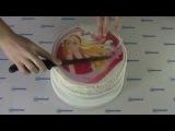 Инструкция как правильно положить фото на торт
