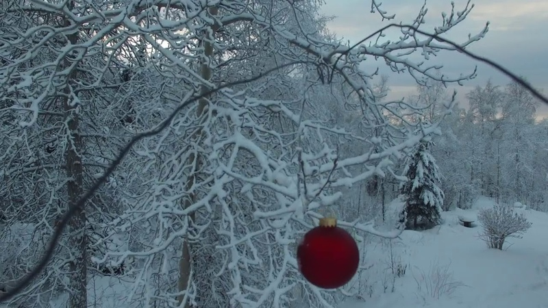 Drone hangs a Christmas Tree Ornament in Alaska! / Video by Orion Lawlor