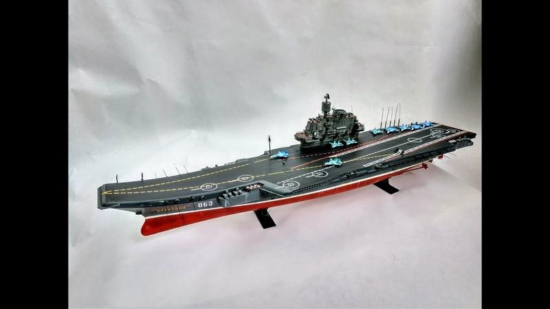 Покраска кистью сборной модели авианесущего крейсера Адмирал Кузнецов от Звезды Часть 2
