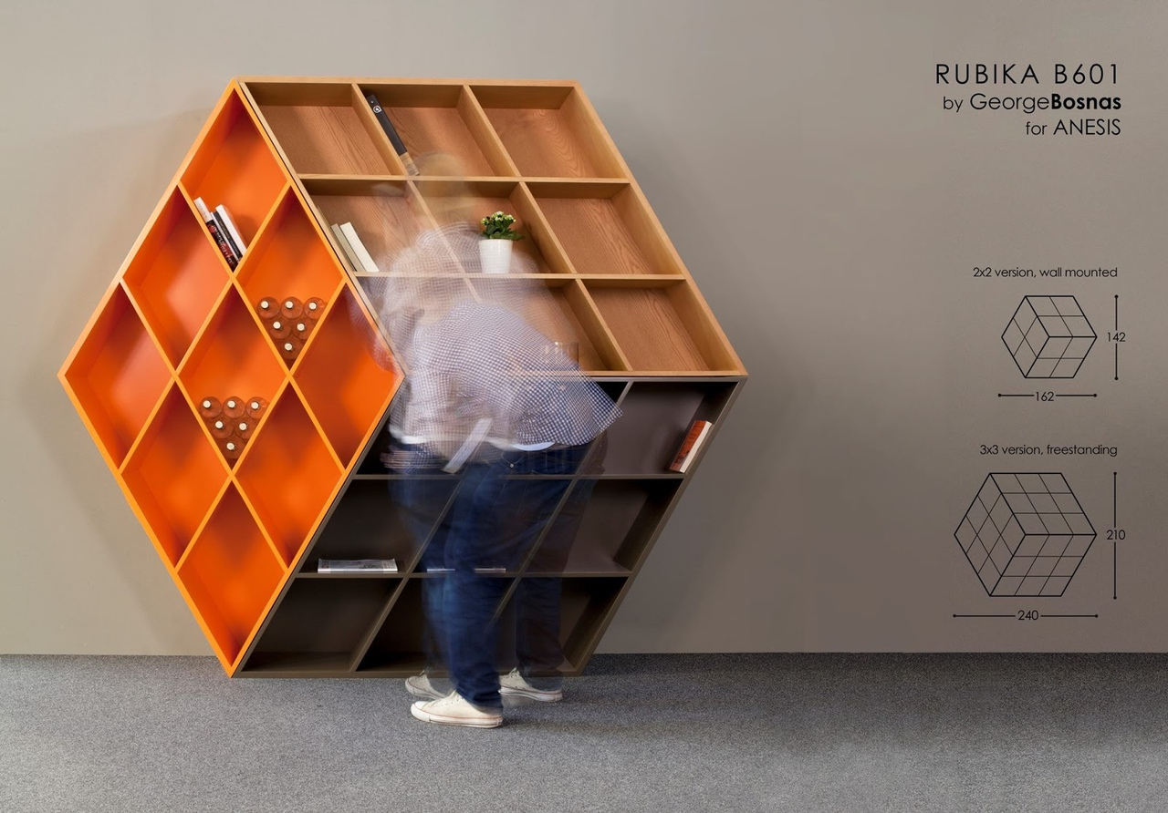 Rubika B601, A piece of illusion art translated in a ergonomic piece of furniture.