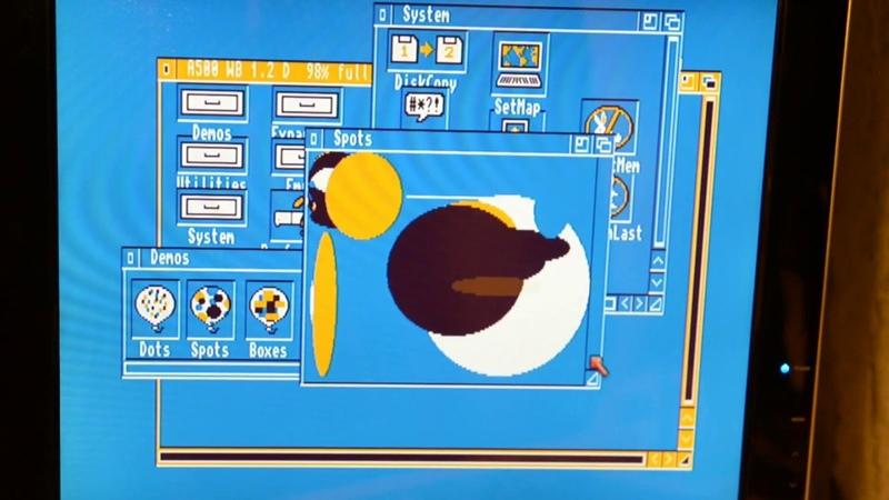 Amiga 500 ROM change. Замена ПЗУ в Амига 500