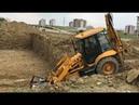 Jcb 3 cx backhoe loaders building basic leveling cat excavator work