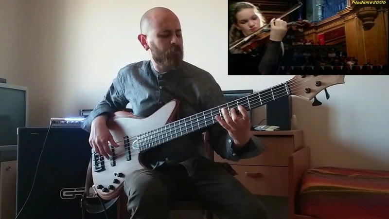 Marco Pistone ft Hilary Hahn - Presto in Gm (bass) J.S. Bach
