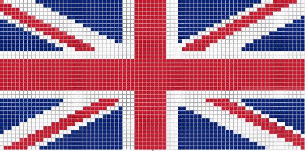 Фенечка с британским флагом.