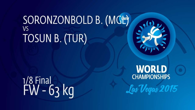 1/8 FW - 63 kg: B. SORONZONBOLD (MGL) df. B. TOSUN (TUR) by TF, 10-0