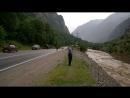 Конец города Тырныауз дорогу смывает река а так же дороги в посёлке Нитрино 05 07 2018