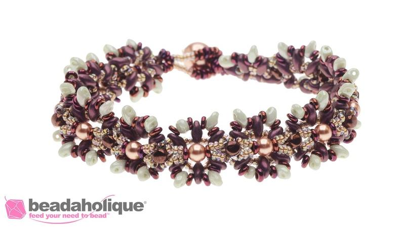 How to Make the Sunburst Bracelet using Toho Demi Round Seed Beads
