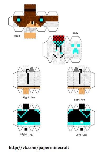 Фигурки Майнкрафт из бумаги - сделай сам! - Minecraft PE