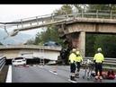 На краю бездны: в Италии водитель чудом избежал смерти на обрушившемся мосту_14-08-18