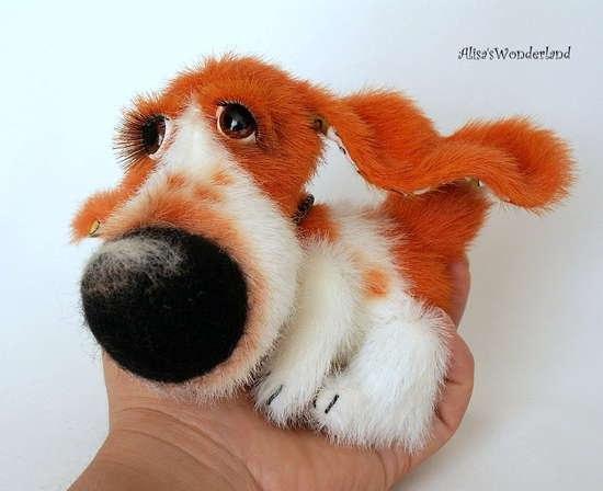Мягкая игрушка собака, выкройка. Автор Алиса Шангина…. (5 фото) - картинка