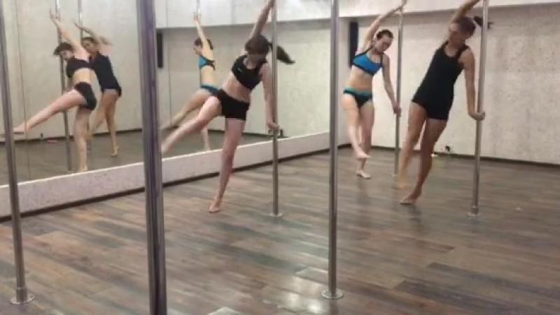 облёт, pole dance с Марией Калашниковой, начинающие